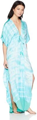 Green Dragon Women's Kimono Sleeve Maxi Kaftan Dress