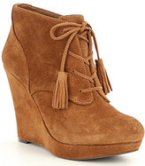 Jessica Simpson Cyntia Laceup Wedge Ankle Boots