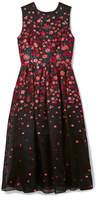 Lela Rose Pleated Fil Coupé Silk-blend Organza Midi Dress - Black