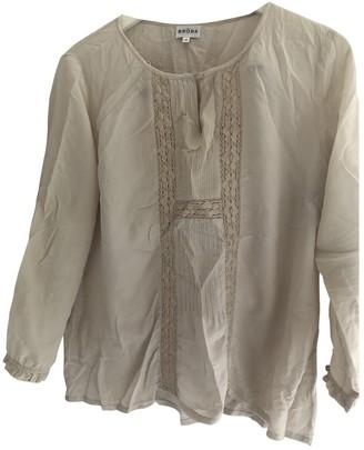 Brora Beige Silk Top for Women