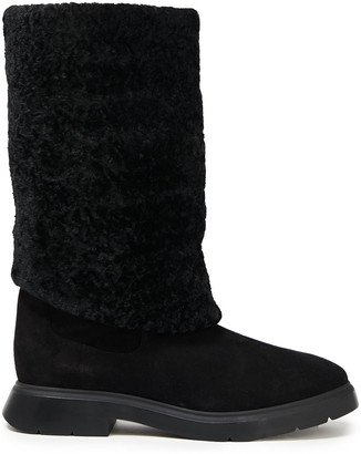 Stuart Weitzman Shearling-lined Leather Boots