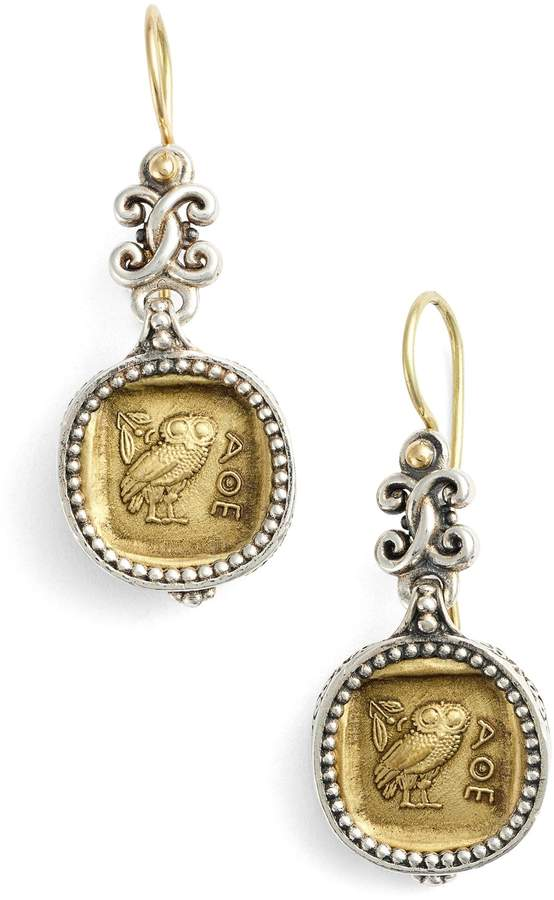 Konstantino 'Athena Owl' Drop Earrings