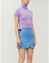 Balenciaga VESTIAIRE notched-hem stretch-woven mini skirt