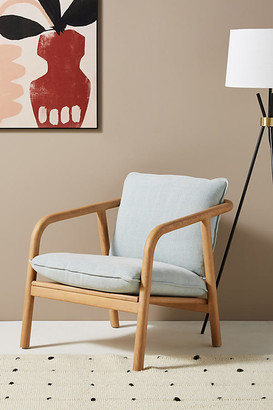 Anthropologie Laurel Lounge Chair By in Blue Size ALL