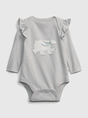 Gap Baby Organic Polar Bear Graphic Bodysuit