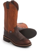 """Chippewa Briar Pitstop Pull-On Cowboy Boots - Round Toe, 12"""" (For Men)"""