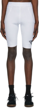 adidas White Alphaskin Sport Tight Shorts