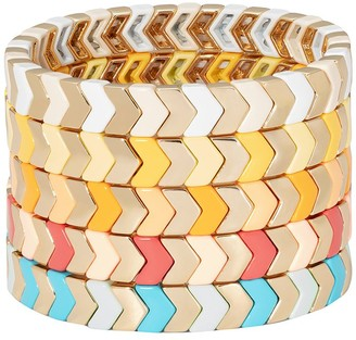 Roxanne Assoulin Gilded Herringbone set of five bracelets