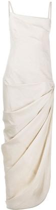 Jacquemus Asymmetric Ruched Dress