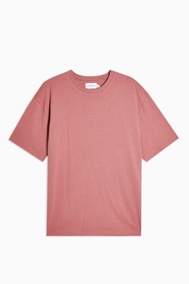 Topman Womens Rose Pink Oversized T-Shirt - Pink