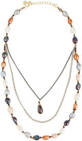 Nakamol Triple-Layer Multicolored Freshwater Pearl Necklace
