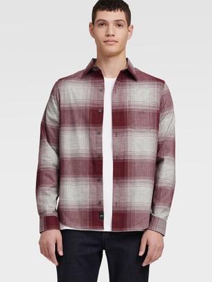 DKNY Exploded Plaid Shirt