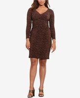 Lauren Ralph Lauren Plus Size Printed Surplice Dress