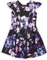 Halabaloo Little Girl's & Girl's Vibrant Floral A-Line Dress