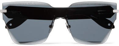 Givenchy D-frame Acetate And Silver-tone Sunglasses - Black