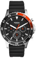 Fossil Crewmaster Chronograph Silicone Strap Watch, 46Mm