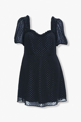 Forever 21 Plus Size Polka Dot Sweetheart Dress