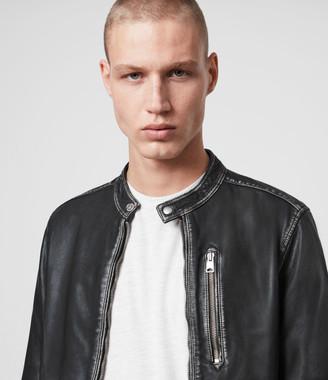 AllSaints Cable Leather Jacket