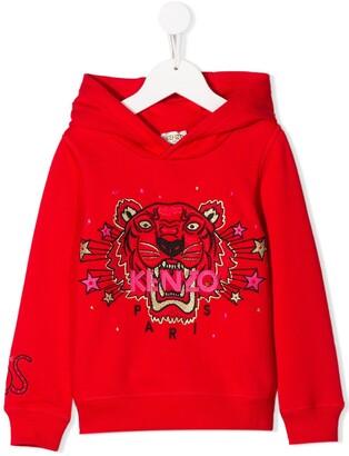 Kenzo Kids embroidered Tiger hoodie