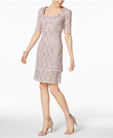 Alex Evenings Sequin-Lace Sheath Dress