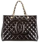Chanel Quilted Patent Leather Tote