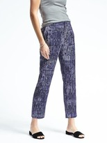 Banana Republic Piece & Co. Avery-Fit Batik Pant