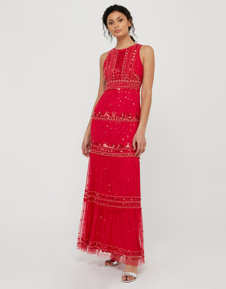 Under Armour Sai Sustainable Embellished Maxi Dress Red