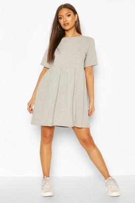 boohoo Oversized Seam Detail T-Shirt Dress
