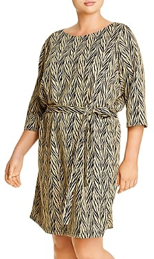 Junarose Plus Palo Printed Belted Shift Dress