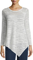 Joie Tambrel Textured-Stripe Slub Top