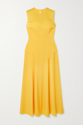 Jason Wu Paneled Satin Maxi Dress - Yellow