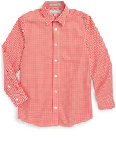 Nordstrom Smartcare(TM) Gingham Dress Shirt (Big Boys)