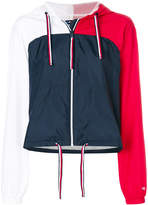 Tommy Hilfiger colour block cropped sports jacket