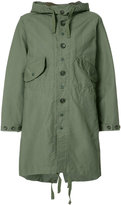 Engineered Garments buttoned military coat