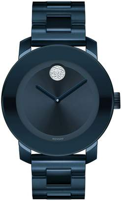 Movado Analog Bold Ionic Blue Plated Steel Watch