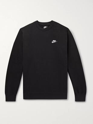 Nike Sportswear Club Logo-Embroidered Cotton-Blend Tech Fleece Sweatshirt