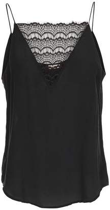 Custommade - Elvira Silk Lace Top Black - XS / Black
