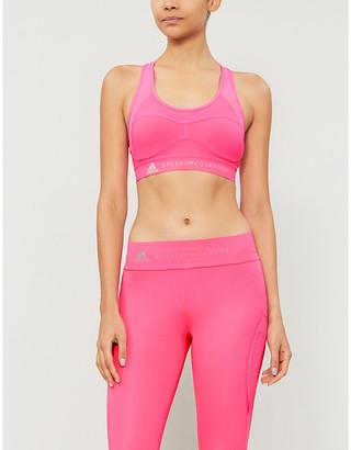 adidas by Stella McCartney Performance Essentials logo-print stretch-jersey sports bra