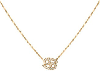 Engelbert Yellow Gold And Diamond Zodiac Cancer Necklace