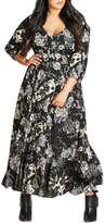 City Chic Floral Maxi Dress