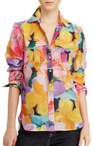 Lauren Ralph Lauren Floral Cotton-Silk Voile Shirt