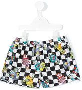 Mc2 Saint Barth Kids - robot print swim shorts - kids - Polyamide/Polyester/Spandex/Elastane - 2 yrs