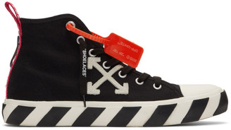 Off-White Black and White Arrows Mid-Top Sneakers