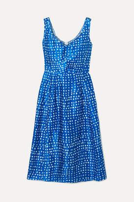 Marni Polka-dot Cupro Dress - Blue