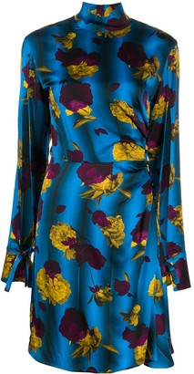 Opening Ceremony Floral Print Turtle Neck Dress