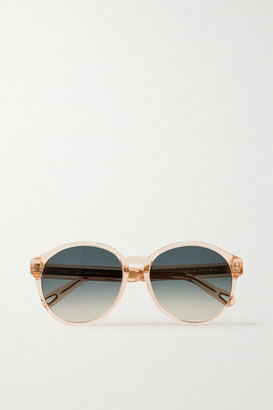 Chloé Willow Round-frame Acetate And Gold-tone Sunglasses - Peach