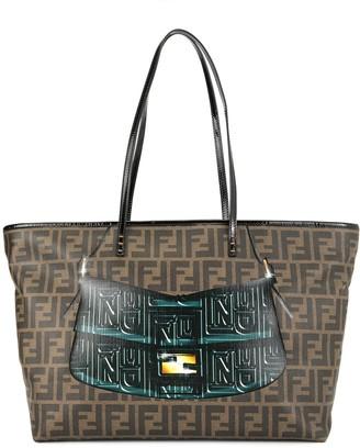 Fendi Pre-Owned Mamma Baguette print Zucca pattern shoulder tote bag