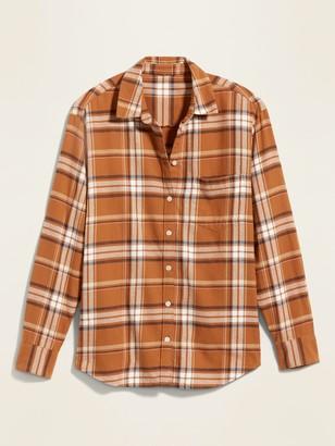 Old Navy Plaid Flannel Boyfriend Shirt for Women