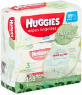 Huggies Natural Care 3-Pack 56-Count Baby Wipes in Unscented