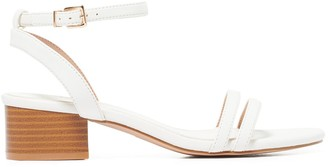 Forever New Pia Low-Block Heels - White - 36